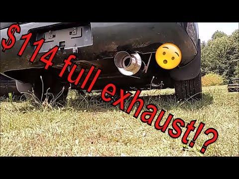 CHEAP ebay exhaust install on Acura Integra