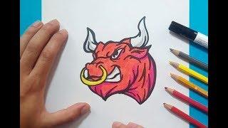 Como dibujar un toro paso a paso 4  | How to draw a bull 4