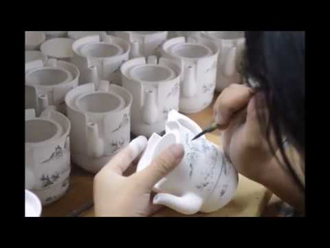 Design Production of porcelain teawares in Jingdezhen by Liu - Chinese Art