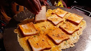 India Street Food - BIGGEST EGG OMELETTE BREAD