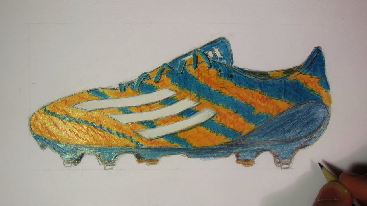 Drawing Messi Shoe Adidas