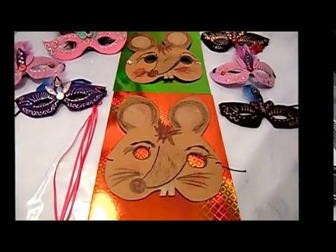 Fasching Deko Basteln diy 10 maus maske basteln für fasching deko wandschmuck partydeko
