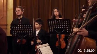 High school string orchestra • Respighi & Sibelius | Live | 11yr old Frano