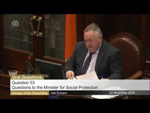 Tommy Broughan TD questioning Minister Varadkar on JobPath and teachers