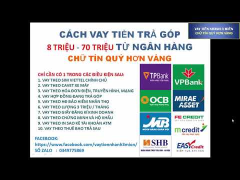 Vay Tiền Trả Góp - Những Ngân Hàng Nào đang Cho Vay Trả Góp Tốt Nhất Việt Nam