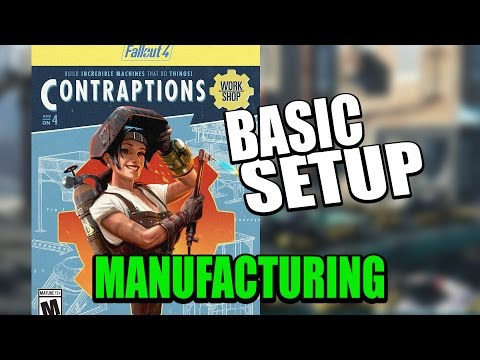 Fallout 4: Contraptions DLC - How to Set Up Manufacturing and Sorting Machines
