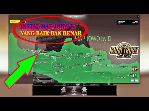TUTORIAL PEMASANGAN MOD MAP JOWO V7 BY DP ETS2 | ETS2 MOD INDONESIA