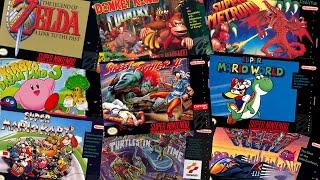 Top 300 best Super Nintendo games in chronological order. 1991 - 1997