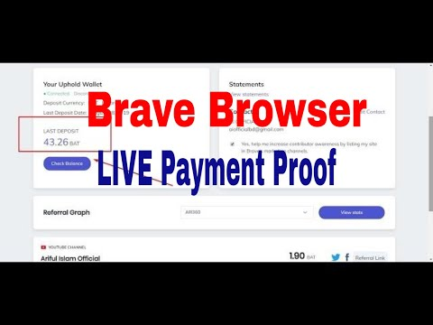 Brave Browser Payment Proof - LIVE Withdrawal - Coinbase to Bkash