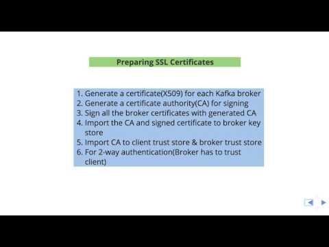 Preparing SSL Certificates for Apache Kafka - YouTube