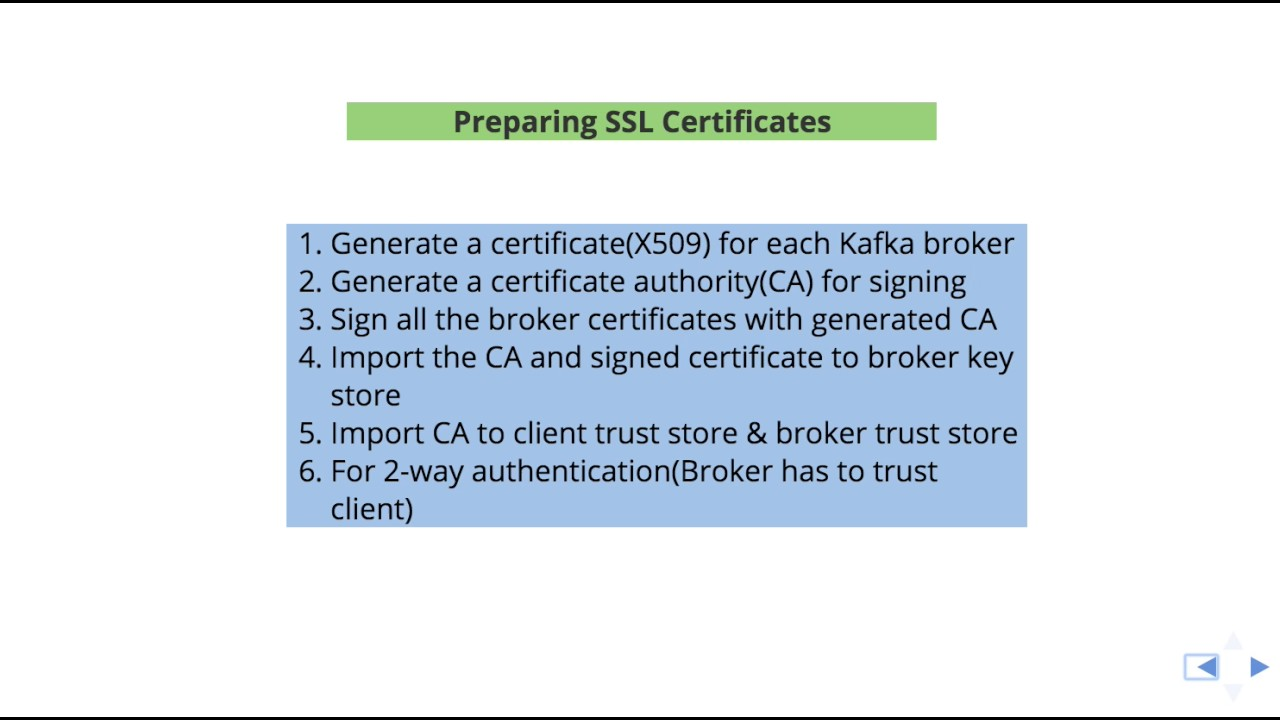 Preparing Ssl Certificates For Apache Kafka Youtube