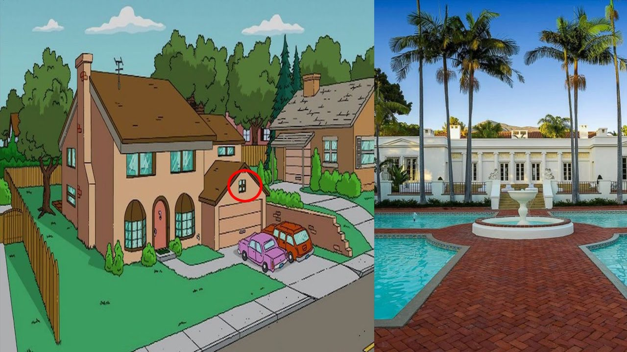 Los Simpsons  Precio Real de la Casa de los Simpsons Y Scarface  YouTube