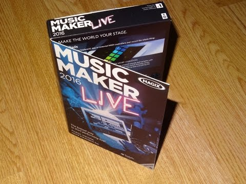 Magix Music Maker 2016 Live Look Through and Review