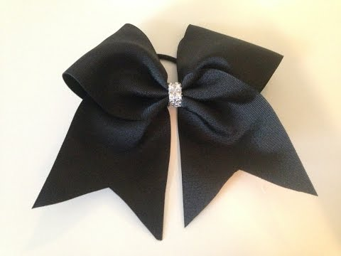 How to make a cheer bow!