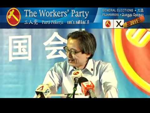 WP Hougang Rally (28 Apr 2011) - Chen Show Mao 1of2 (Malay/Mandarin), Aljunied GRC
