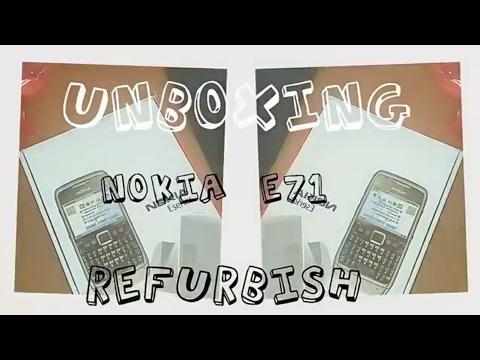 Unboxing nokia e71 refurbish nostalgia banget