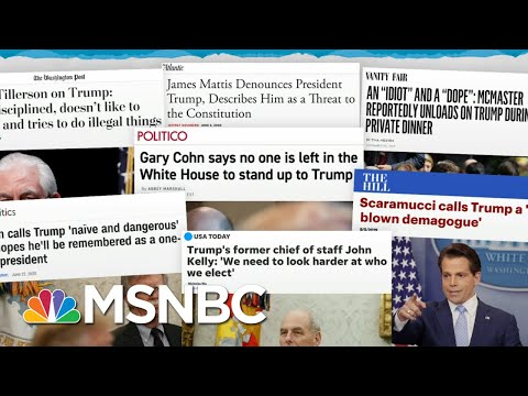 Trump Scandals Pass By, Lose Spotlight To New Trump Scandals | Rachel Maddow | MSNBC