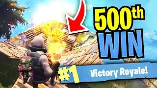 MY 500TH SOLO WIN IN FORTNITE! CLUTCH Game for the VICTORY! - Fortnite BEST Moments