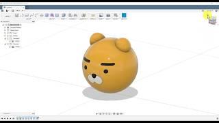 [FUSION360] 카카오프렌즈 라이언 캐릭터 모델링
