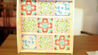 Como aplicar stenciles combinados - Pintura Decorativa - Imitacion Mayolica