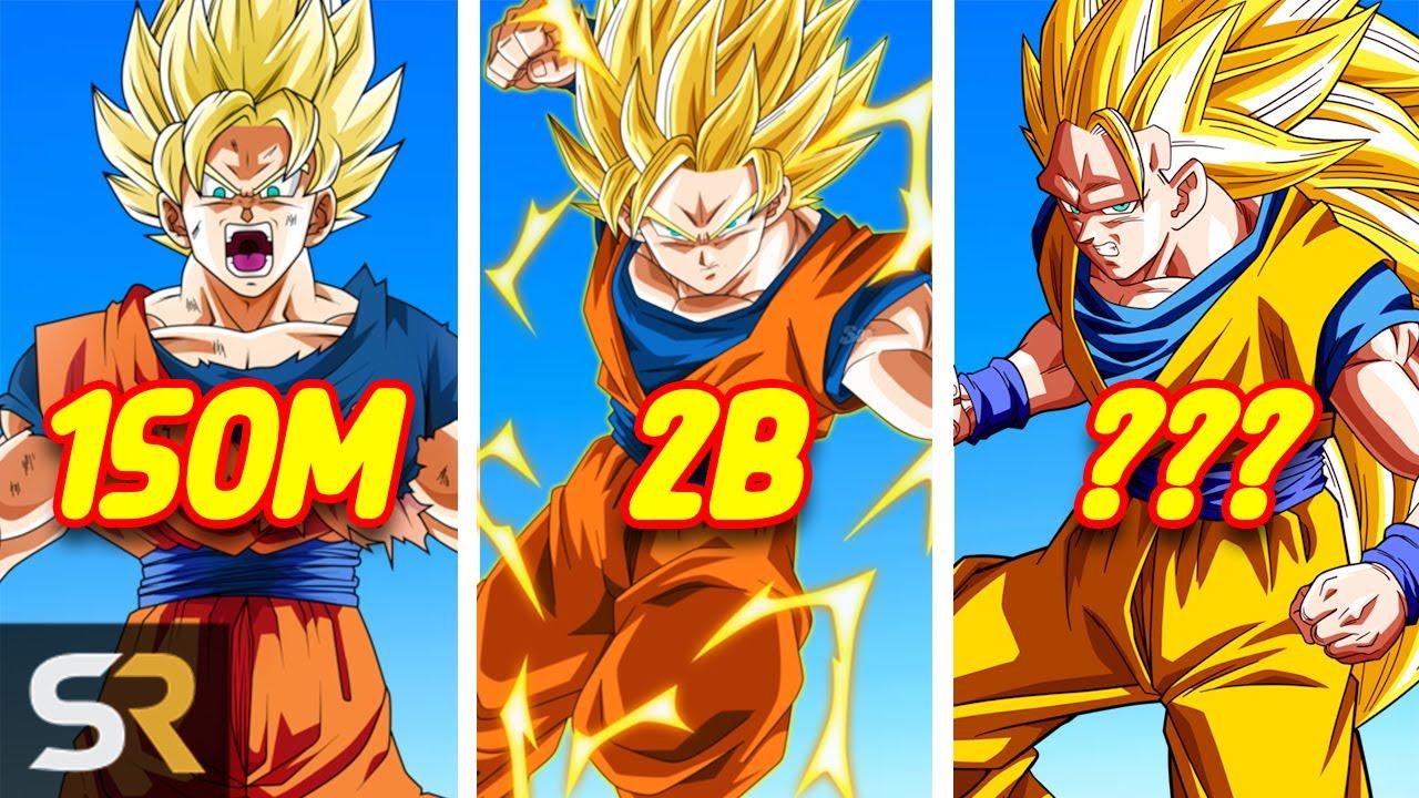 dragon ball z super saiyan power levels explained youtube