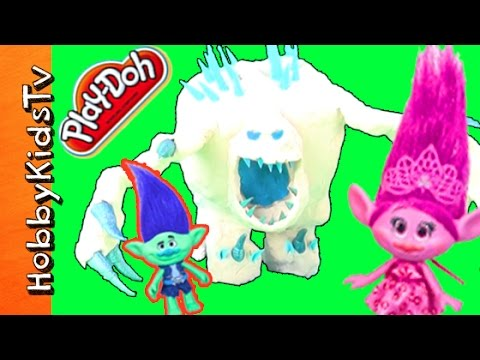 Playdoh Marshmallow Monster And Trolls Find Surprises