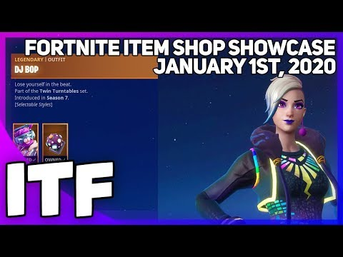 Fortnite Item Shop *RARE* DJ BOP SKIN IS BACK! [January 1st, 2020] (Fortnite Battle Royale)