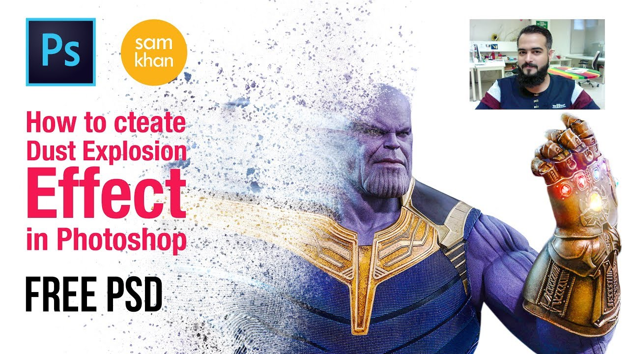 Photoshop tutorials | how to create Thanos Dust Explosion