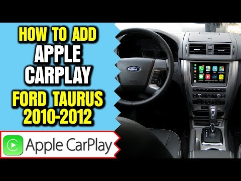 Ford Taurus Apple CarPlay Android Auto 2010-2012 Ford Taurus Sync Navigation HDMI Camera Mirroring