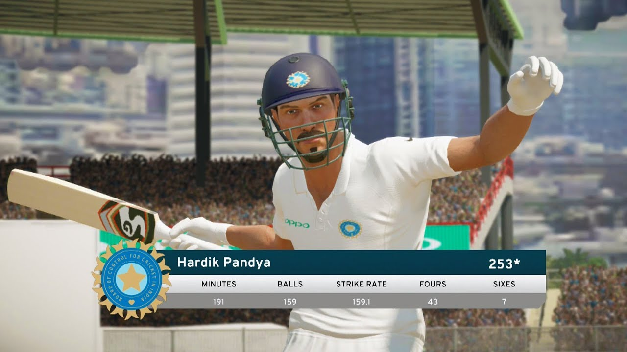 Hardik Pandya's 250* Not Out Explosive Knock INDVSNZ - Don Bradman Cricket 17 Career Mode #1