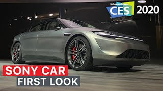 Sony Vision-S Car FIRST LOOK | CES 2020