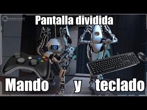 Tutorial Portal 2 PC pantalla dividida (Mando y Teclado)