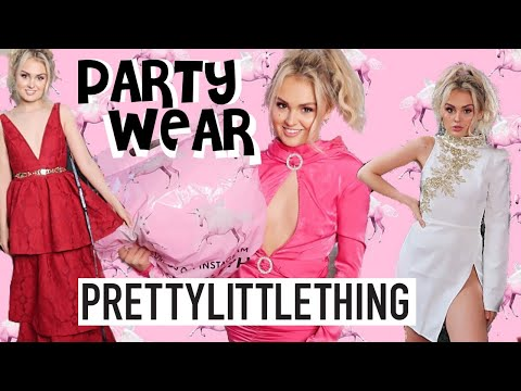 PRETTY LITTLE THING HAUL | £100 GIVEAWAY / PARTYWEAR DRESSES