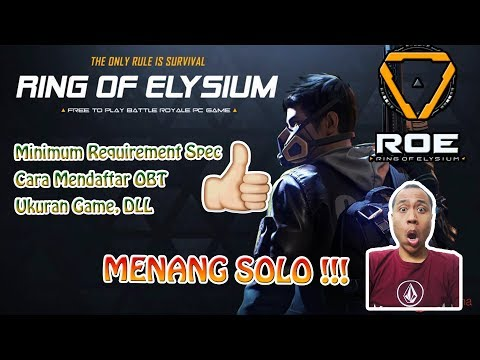 SOLO WIN MINIM AMMO  !!! - Ring of Elysium Indonesia