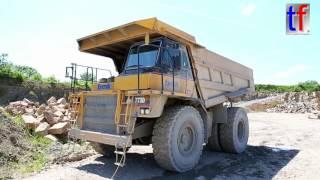 CATERPILLAR 773D Dump Truck, Walk Around, Quarry, Germany, 2016.