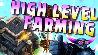 HIGH LEVEL FARMING TH9 || LAVALOON FARMING CLASH OF CLANS