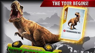 the t rex tour begins jurassic world the game fhd 1080p