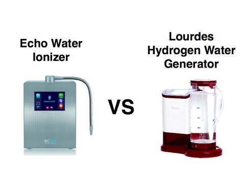 Echo water ionizer vs lourdes hydrogen generator review and comparison