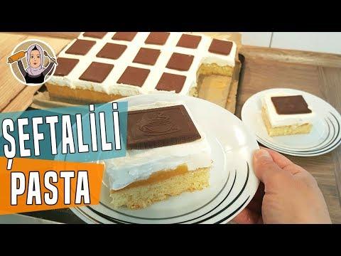Kremalı Şeftalili Çok Hafif Pasta Tarifi