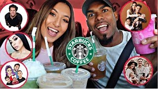 TRYING YOUTUBERS FAVORITE STARBUCKS DRINKS