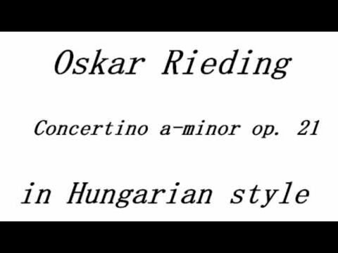 Rieding, Concertino A minor in Hungarian Style op. 21 piano accompaniment