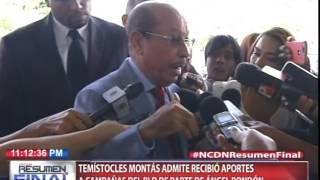 Temístocles Montás admite recibo aportes a campañas del PLD de parte de Ángel Rondón