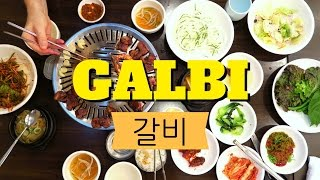 Galbi (갈비): Korean Barbecue marinated short ribs in Seoul, Korea
