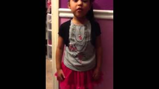 Little Girl Singing Hunt Them Down by Baby Kaely . (Cover)