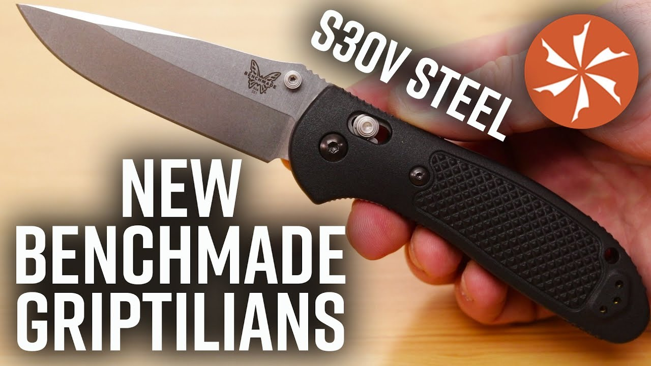 New 2019 Benchmade Griptilian Folding Knives With S30V Blade Steel Now  Available at KnifeCenter com