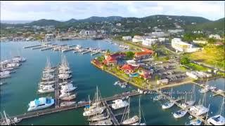 Rodney Bay    Saint Lucia    Aerial view.