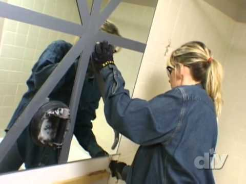 Bathroom Mirror Removal how to safely remove a wall mirror - diy network - youtube