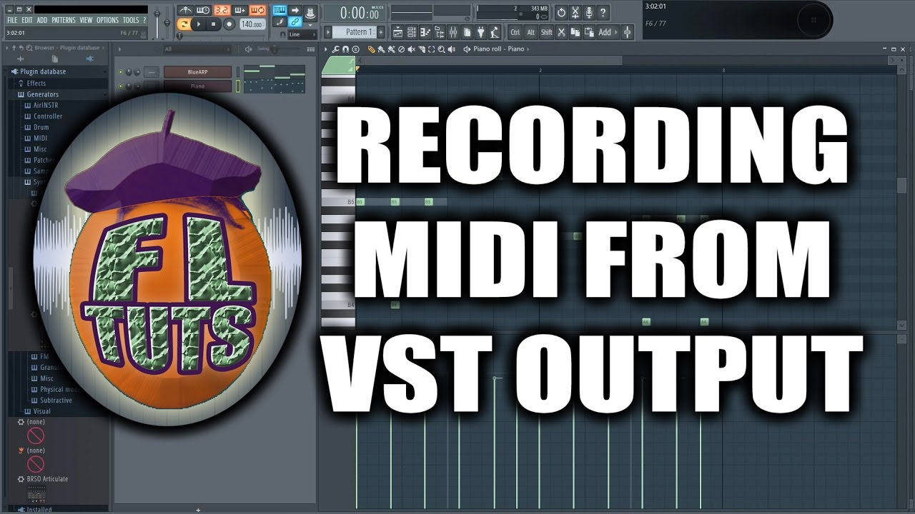 Recording MIDI output back to FL Studio pianoroll