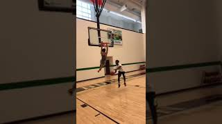 """5""""8 dunks with 2 hands"""