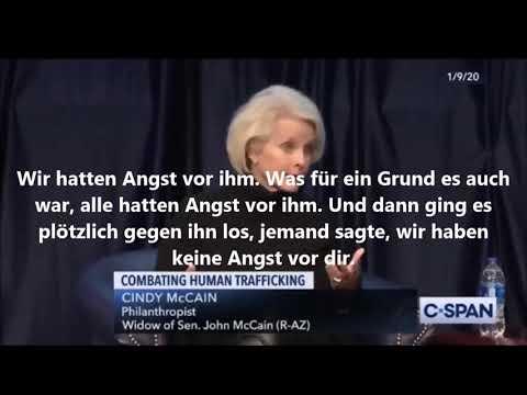 Witwe d. US-Senator McCain: Epstein u. Menschenhandel der Eliten - Alle wissen davon und haben Angst